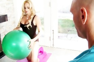 breasty blonde yoga instructor claudia valentine
