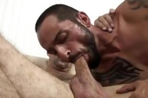 masculine daddies bareback with creampie