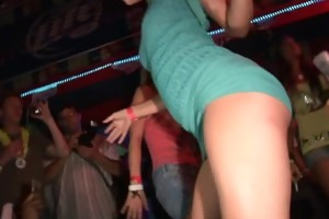 up skirt, girls giving a kiss and flashing