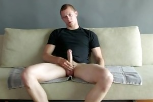 lengthy lasting slow jack off session with a tall