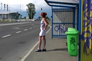 beautiful picked up and arse fucked outdoor by a