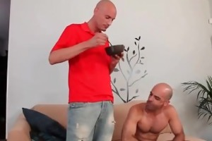 hot bf gets his ass screwed on daybed part3