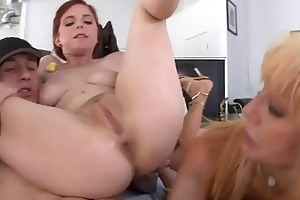 milf anal sex three-some stepmom and step