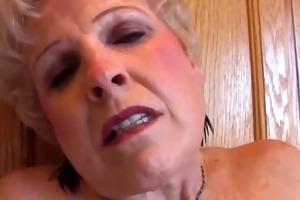 very sexy grandma has a soaking wet slit