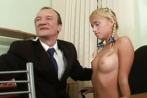 three-some lesson with old teacher