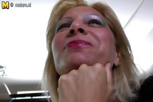 obscene minded daughter copulates old lesbo