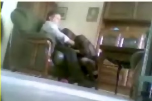 hidden livecam catches mum and daddy home alone