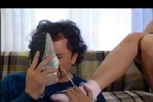 fetish foot with banana.