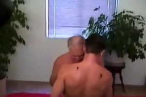 old man and sexy guy in love
