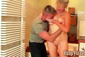 horny granny fucks chap