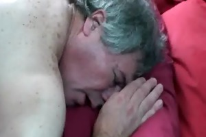 slutty dad sucked off by crossdresser