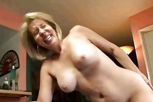 blonde granny sucks on ramrod then receives her
