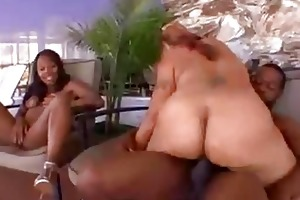 mother and daughter share a dick