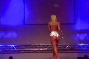 youthful chick stripper on stage