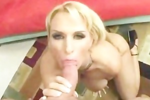 shaved golden-haired mother i with large bumpers