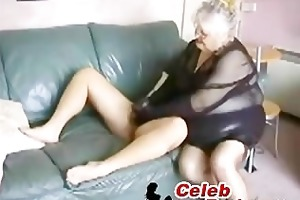 dilettante big beautiful woman granny drilled by