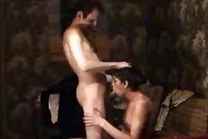 gay daddy disrobes and gets his ramrod sucked by