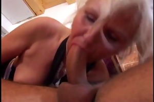 youthful dude fucks an old granny