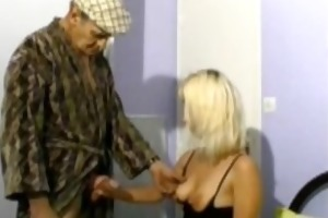 papy fucking a blonde with his neighbour