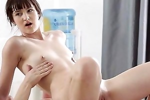 young masseur is working hard to pleasure angel