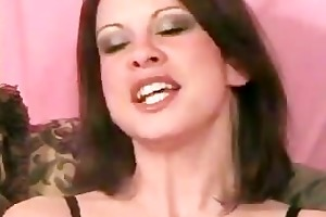 miniature boob milf on web camera rubs clit